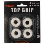 Owijki tenisowe TOPSPIN TOP GRIB 0,5 mm white