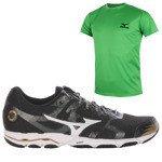 buty do biegania męskie MIZUNO WAVE HITOGAMI + koszulka GRATIS / J1GA148001