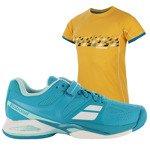 buty tenisowe damskie BABOLAT PROPULSE ALL COURT + koszulka BABOLAT / 31S16477-136