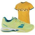buty tenisowe damskie BABOLAT PROPULSE CLAY + koszulka BABOLAT  / 31S16554-113