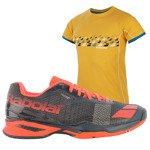 buty tenisowe męskie BABOLAT JET ALL COURT + koszulka BABOLAT / 30S16629-208
