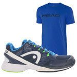 buty tenisowe męskie HEAD NZZZO PRO CLAY + koszulka HEAD IVAN  / 273117