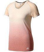 koszulka do biegania damska ADIDAS PRIMEKNIT WOOL DIP-DYE TEE / AZ2896