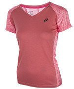 koszulka do biegania damska ASICS FUZEX V-NECK SHORT SLEEVE TOP / 141214-0688