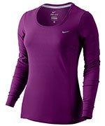 koszulka do biegania damska NIKE DRI-FIT CONTOUR LONG SLEEVE / 644707-556