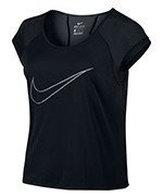 koszulka do biegania damska NIKE DRY TOP SHORT SLEEVE RUN FAST / 799574-010
