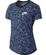koszulka do biegania damska NIKE RUN PALM ALLOVER PRINTED TEE / 739545-486