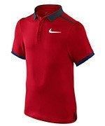 koszulka tenisowa chłopięca NIKE ADVANTAGE SOLID POLO  / 724435-658