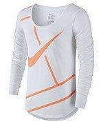 koszulka tenisowa damska NIKE PRACTICE COURT LOGO LONG SLEEVE TEE / 844825-100