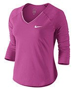 koszulka tenisowa damska NIKE PURE TOP / 728791-501