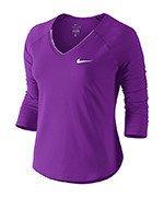 koszulka tenisowa damska NIKE PURE TOP / 728791-584