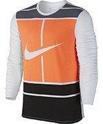 koszulka tenisowa męska NIKE PRACTICE COURT LOGO LONG SLEEVE TEE / 844161-101
