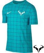koszulka tenisowa męska NIKE RAFA SHORTSLEEVE CREW TEE / 739475-429