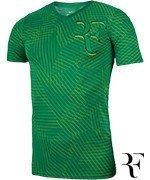 koszulka tenisowa męska NIKE RF TEE ALLOVER PRINTED / 831466-324