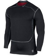 koszulka termoaktywna męska NIKE PRO COMBAT HYPERWARM SHIELD FITTED MOCK NECK 2.0 / 585171-010