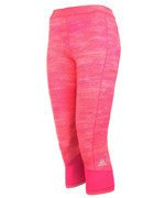 legginsy damskie 3/4 ADIDAS TECHFIT CAPRI PRINTED HEATHER / AJ2270