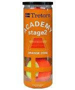 piłki tenisowe TRETORN ACADEMY STAGE2 SZT.3 ORANGE ZONE
