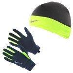 rękawiczki i czapka do biegania męskie NIKE RUN DRI-FIT BEANIE/GLOVE SET / NRC00-023