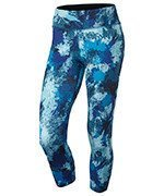 spodnie do biegania damskie 3/4 NIKE POWER  ESSENTIAL CROP PRINT TIGHT / 848002-457