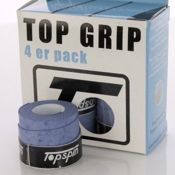 Owijki tenisowe TOPSPIN TOP GRIB 4er pack blue