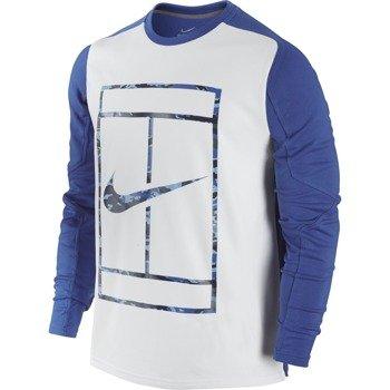 bluza tenisowa męska NIKE PRACTICE LONGSLEEVE CREW / 685323-480