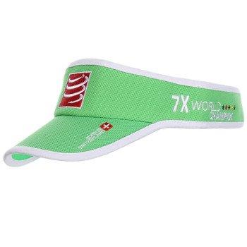 daszek biegowy COMPRESSPORT VISIOR CAP green