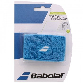 frotka tenisowa BABOLAT HEADBAND DOUBLE LINE Blue