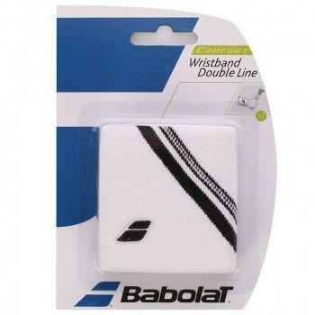 frotka tenisowa BABOLAT WRISTBAND DOUBLE LINE White
