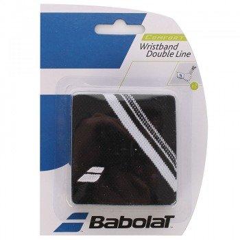 frotka tenisowa BABOLAT WRISTBAND DOUBLE LINE X2 Black/White