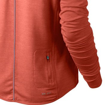 koszulka do biegania damska NIKE DRI FIT FLEECE RUN CREW / 588554-847
