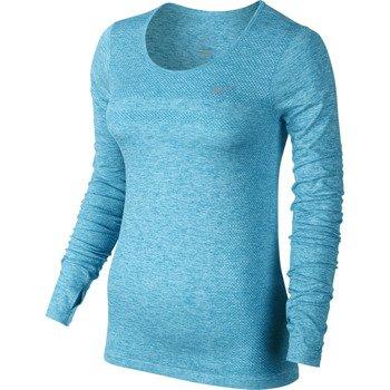 koszulka do biegania damska NIKE DRI-FIT KNIT LONGSLEEVE / 644683-407