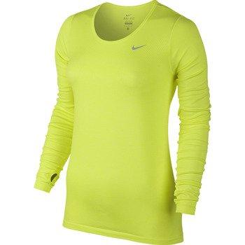 koszulka do biegania damska NIKE DRI-FIT KNIT LONGSLEEVE / 644683-702