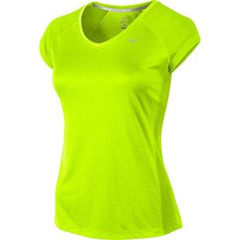 koszulka do biegania damska NIKE MILER SHORTSLEEVE V-NECK TOP / 519831-702