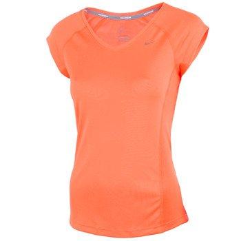 koszulka do biegania damska NIKE MILER SHORTSLEEVE V-NECK TOP / 519831-870