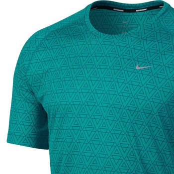 koszulka do biegania męska NIKE PRINTED MILER SHORTSLEEVE