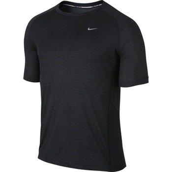 koszulka do biegania męska NIKE PRINTED MILER SHORTSLEEVE (TEAM) / 644335-008