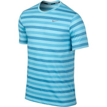 koszulka do biegania męska NIKE TOUCH TAILWIND SHORTSLEEVE STRIPED / 596202-419