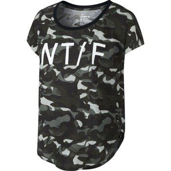 koszulka sportowa damska NIKE SIGNAL TRACK AND FIELD CAMO ALLOVER PRINT TEE / 715653-037