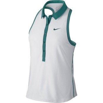 koszulka tenisowa damska NIKE ADVANTAGE SLEEVELESS POLO / 683102-101