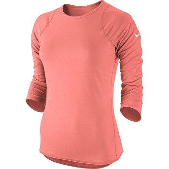 koszulka tenisowa damska NIKE BASELINE 3/4 SLEEVE TOP / 558819-676