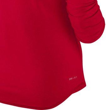 koszulka tenisowa damska NIKE BASELINE 3/4 SLEEVE TOP / 558819-691