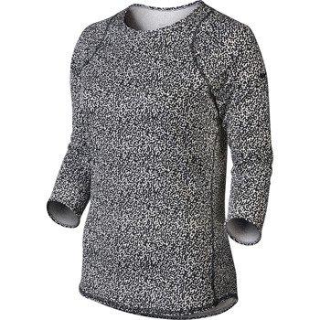 koszulka tenisowa damska NIKE BASELINE 3/4 SLEEVE TOP / 637784-010