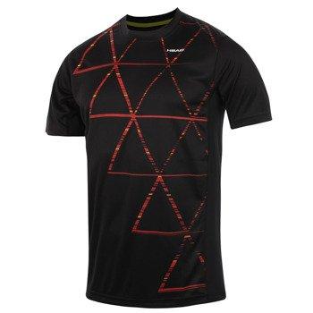 koszulka tenisowa męska HEAD DASH T-SHIRT / 811134 BKFL