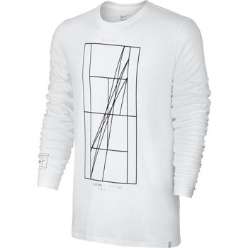 koszulka tenisowa męska NIKE COURT FRENCH OPEN AGASSI LONG SLEEVE / 777873-100