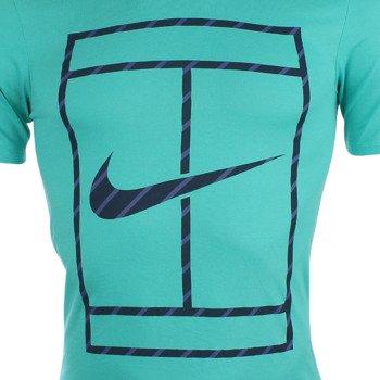 koszulka tenisowa męska NIKE COURT FRENCH STRIPE TEE / 658171-405
