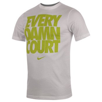 koszulka tenisowa męska NIKE EVERY DAMN COURT TEE 2 / 639421-100