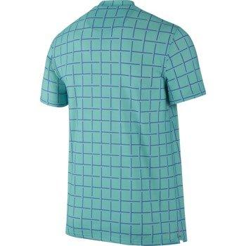 koszulka tenisowa męska NIKE SPHERE STRIPE CREW / 644782-405