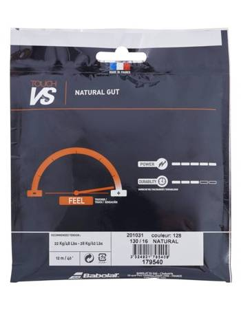 naciąg tenisowy naturalny BABOLATVS TOUCH BT7 BLK 12m