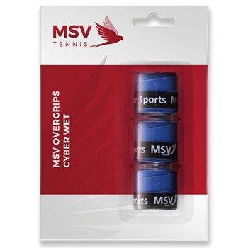 owijki tenisowe MSV OVERGRIP CYBER WET X3 BLUE