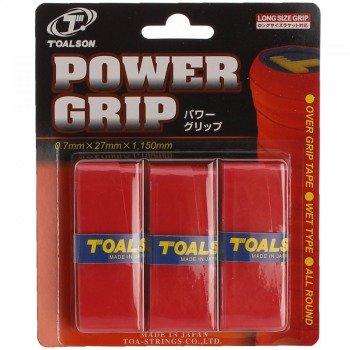 owijki tenisowe TOALSON POWER GRIP x 3 red